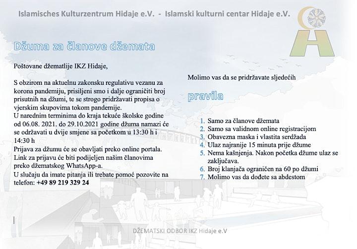 Džuma za članove u IKZ Hidaje 06.08 - 29.10.2021: Bild