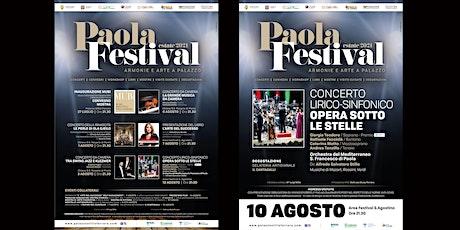 PAOLA FESTIVAL-OPERA SOTTO LE STELLE biglietti