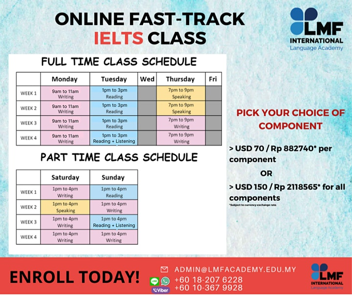 ONLINE FAST-TRACK IELTS SCORING CLASS (Indonesia) image