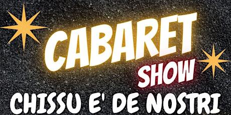 CABARET SHOW PIERO PROCOPIO biglietti