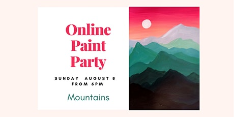 Online Paint&Sip Party tickets