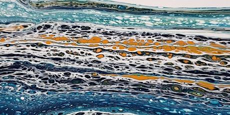Fluid Art Experience - Sandwich Pour (Paint and Sip) tickets