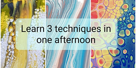 Fluid Art Experience - 'SUPER IN-DEPTH CLASS' - LEARN THREE TECHNIQUES tickets