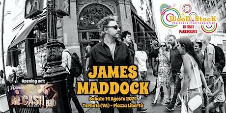 JAMES MADDOCK a Ternate per WOODinSTOCK biglietti