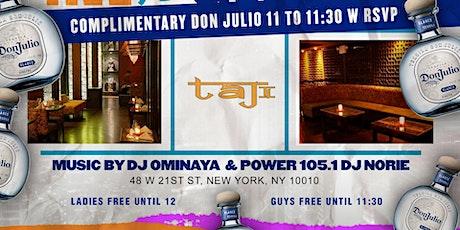 Status Fridays @ Taj NYC: Everyone Free with rsvp tickets