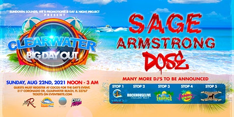 Clearwater BIG day out  EDM bar crawl Sunset boat party with Sage Armstrong tickets