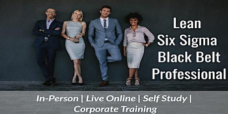 10/25 Lean Six Sigma Black Belt Certification in Charlotte tickets