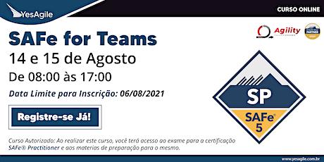 SAFe for Teams com certificação SAFe® Practitioner - Online - Português tickets