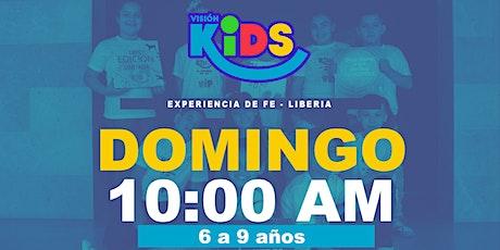 Experiencia de Fe. KIDS 10:00am. Liberia entradas