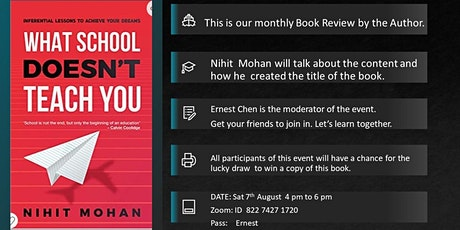 """Ernest Chen Book Talk on the Book Titled  """"What School Doesn't Teach You"""" tickets"""