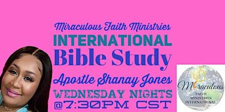Miraculous Faith Bible Study tickets