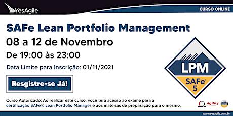 SAFe Lean Portfolio Management com certificação SAFe® - Online - Português ingressos