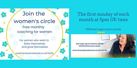 The women's circle - Free monthly self-care and wellbeing. Topic: Anxiety tickets