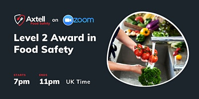 Level 2 Award in Food Safety in Catering  –  7pm start time