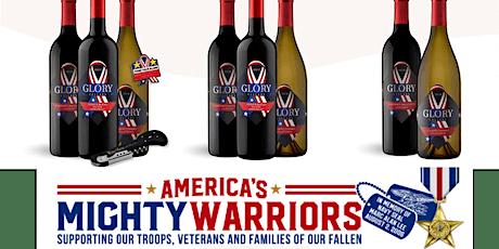 FUNDRAISER: America's Mighty Warriors  Wine &  Slumped Bottle Tray Craft tickets