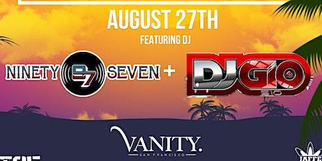 DVNO FRIDAYS at VanitySF: Dj 97 + Gio510 tickets