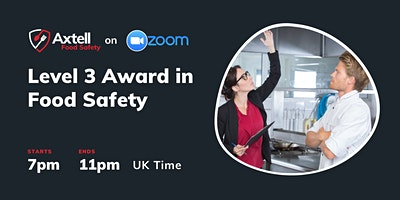 Level 3 Award in Food Safety in Catering  –  7pm start time