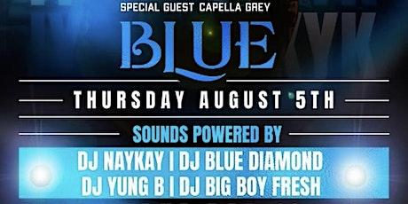 Blue Thursday Birthday Celebration for Capella Grey Gyalis Midtown open bar tickets