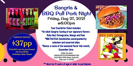 Sangria & BBQ Pulled Pork Sandwich Night tickets