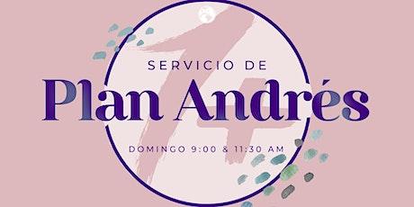 Servicio de Plan Andres  9 A.M. boletos