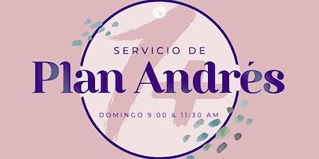 Servicio de Plan Andres   11:30 A.M. boletos