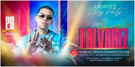 J Alvarez Performing Live September 26th Vesos Day Party  with tickets