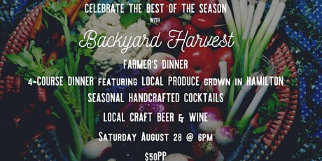 Farmer's Dinner with Backyard Harvest tickets