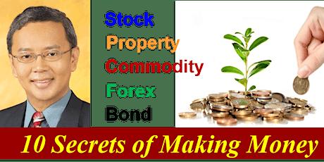 Dr Tee Webinar: 10 Secrets of Making Money in Stock, Property, Bond tickets