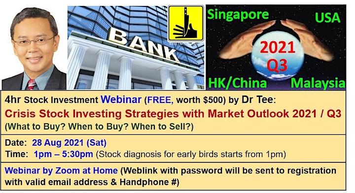 Dr Tee Webinar: 10 Secrets of Making Money in Stock, Property, Bond image