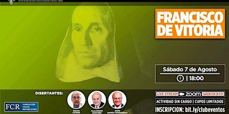 Homenaje a Francisco de Vittoria. Sábado 8 de agosto,18 horas. entradas