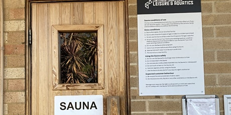 Roselands Aquatic Sauna Sessions  Thursday 2 September 2021 tickets