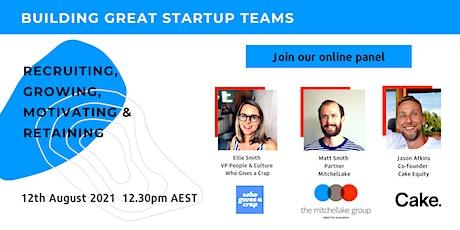 Building Great Startup Teams biglietti