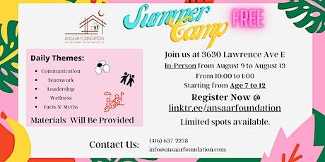 Free Summer Camp tickets