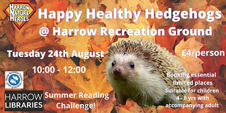 Happy Healthy Hedgehogs tickets
