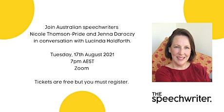 Speechwriting Conversations: Lucinda Holdforth tickets