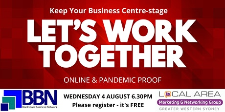 Blacktown: Let's Work Together - Online & Pandemic Proof! tickets