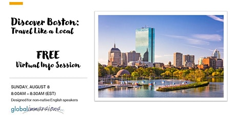 Discover Boston: Travel Like a Local Virtual Session (FREE) tickets