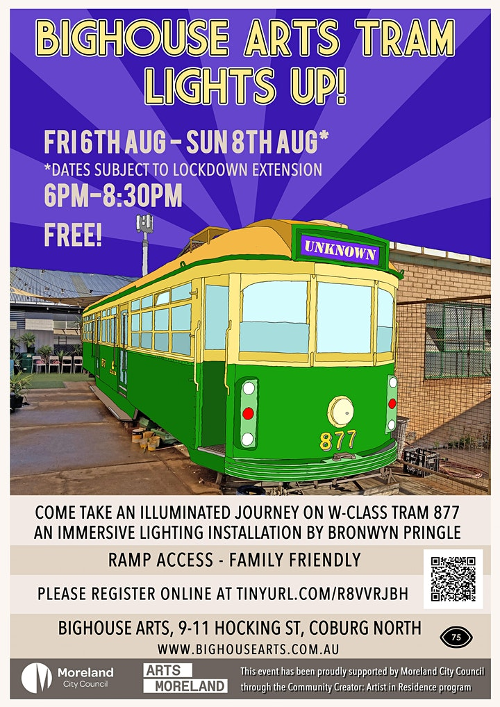 Bighouse Arts Tram Lights Up! (New dates TBC, guide dates only) image