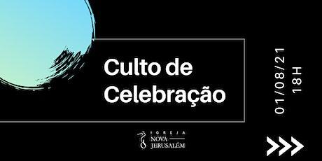 Culto de Celebração 01/08/21 ingressos