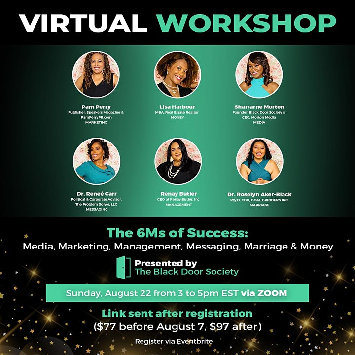 The 6Ms of Success Virtual Workshop image