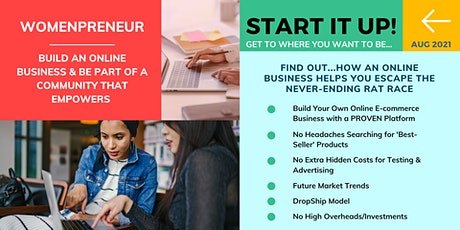 WomenPrenuer GLOBAL   E-Commerce Online Business (ONLINE WEBINAR) tickets
