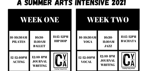 A SUMMER ARTS INTENSIVE *ALL REMOTE* tickets