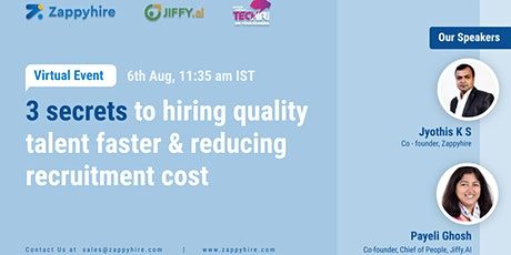 3 secrets to reducing recruitment time and cost! tickets