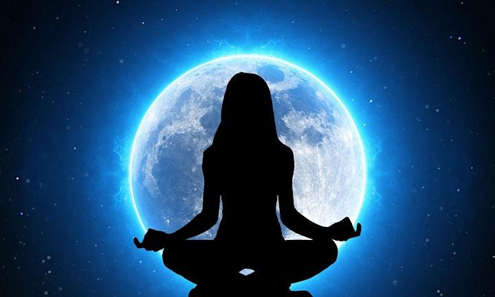 October Divine Feminine New Moon Meditation in the Celestial Belltent image