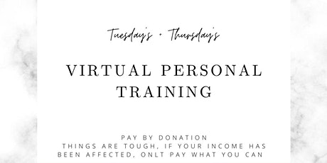 Online personal training sessions tickets