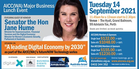 AICC(WA) Major Business Lunch Event tickets
