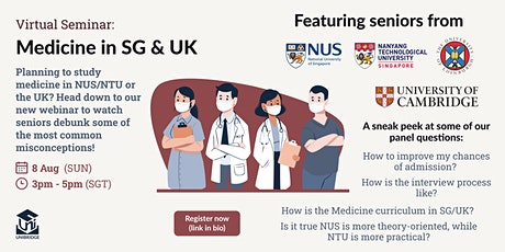 Studying Medicine in the UK and Singapore tickets