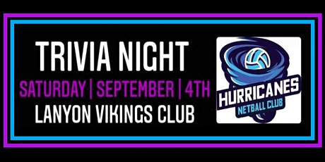 Hurricanes Netball Club - Trivia Night 2021 tickets
