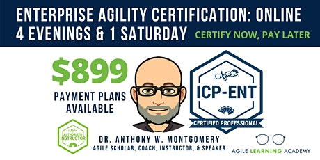 ICAgile Mastering Agility in the Enterprise (ICP-ENT) | Online | Sep 20-25 tickets