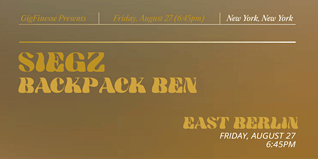 Promised Land Release Party with Zach Siegz & Backpack Ben tickets